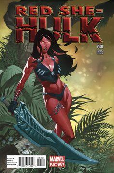 Red She-Hulk # 60 (Variant) by Chris Stevens Hulk Marvel, Marvel Dc Comics, Marvel Heroes, Marvel Characters, Marvel Defenders, Venom Comics, Book Characters, Red She Hulk, Red Hulk