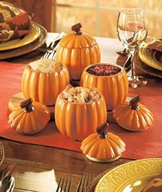 Thanksgiving Side Dishes Set of 4 Pumpkin