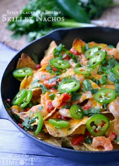 Spicy Blackened Shrimp Skillet Nachos