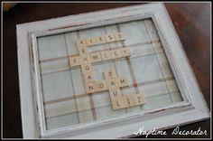 Scrabble-esque Decor- Naptime Decorator