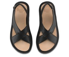 Minimalist Dr. Martens? Yep: the Abella Ankle Strap Sandal features elegant crossover straps, an adjustable buckle heel and undeniable Doc's attitude. This women's sandal is made with with Temperley, a smooth analine leather with a burnished finish, and all the comfort of the classic Doc's sole.