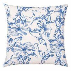 Occipinti Moon Flower Cobalt Cushion