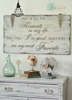 45 Totally Inspiring Farmhouse Bookshelf Design Decor Ideas - I not too long ago created a novel bookshelf utilizing two ladders and a few previous ha Reclaimed Wood Signs, Painted Wood Signs, Rustic Signs, Wooden Signs, Barnwood Ideas, Diy Wood Projects, Wood Crafts, Woodworking Projects, Woodworking Quotes