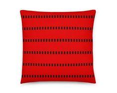Red Root Charka Rhythm Pillow Artificial Emotional Intelligence by ArtekFatuek on Etsy Silver Pillows, White Crosses, Pillow Fabric, Geometric Pillow, Kids Pillows, Designer Pillow, Decorative Pillow Covers, Wall Art Decor, Fabric Weights