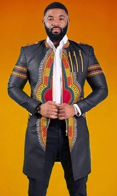 African mens Dashiki top/Jacket Classic African mens wear Colour: Black Situable for work and social gatherings please note: Our top and bottoms are usually custom made to ensure perfect fitting Please send in measurements as follows when you place your order Shoulder to waist #MensFashionWork