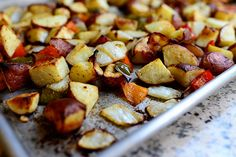 Potatoes, peppers, and onion hash