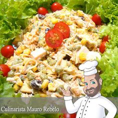Um Salpicão Especial  Esta é uma salada muito rica. Nos dias de calor, você pode utilizar como prato único acompanhado de um arroz branco ...