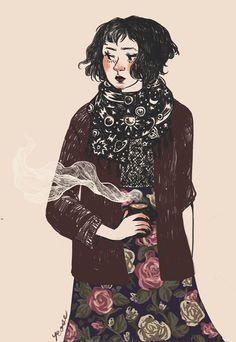 morning // high quality 5 x 7 matte print by roseiaghost on Etsy Character Inspiration, Character Art, Character Design, Character Ideas, Fashion Inspiration, Picture Story, Ipad Art, Woman Drawing, Love Art