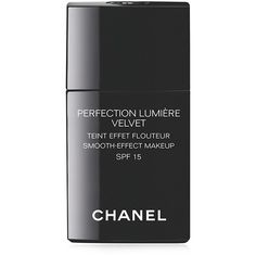 CHANEL PERFECTION LUMIÈRE VELVET Smooth-Effect Makeup SPF15 (13.130 HUF) ❤ liked on Polyvore featuring beauty products, makeup, face makeup, foundation, fillers, beauty, accessories, cosmetics, chanel and chanel face makeup