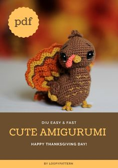 Amigurumi turkey pdf pattern