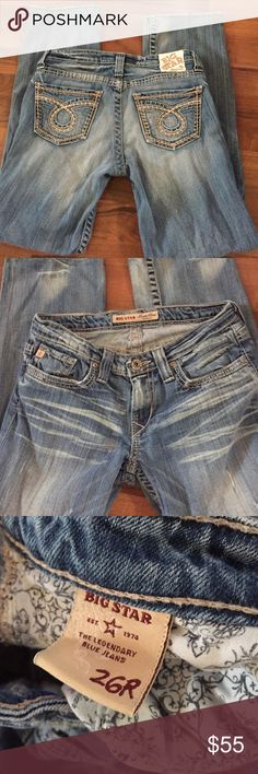 Big star Maddie boot jeans Mid rise fit in great condition 26R inseam 31 Big star Jeans Boot Cut
