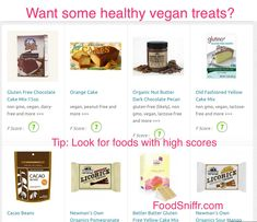 Vegan treats - which of these is healthy?  http://www.foodsniffr.com/blog/vegan-treats-which-of-these-is-healthy/   Hungry for some vegan treats? Well, look before you leap. Don't trash your great diet by just grabbing any vegan dessert or vegan cookies you lay your eyes on. You need to know what's really inside those foods, and FoodSniffr helps you do just that. Check out vegan treats on the FoodSniffr