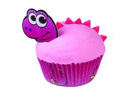 Wilton 415-2050 24 Count Valentine Pink Dinosaur Cupcake Decorating Kit * Special offer just for you. : Baking Accessories