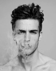 Guy with smoke. Different hairstyle to try, too.