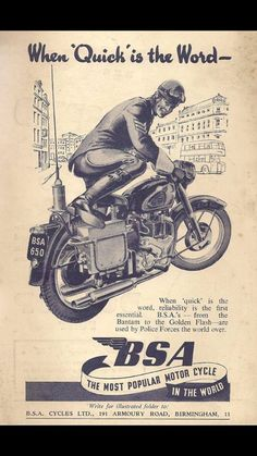 BSA advert