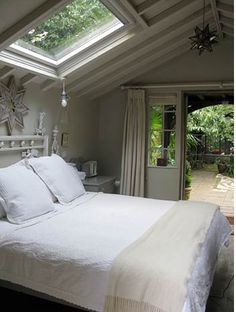 Cottage, UK, Wow! Love the idea of window and light above the bed, going to use this in my future perfect home!!