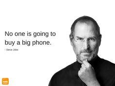 Big #Smartphones. Steve #Jobs