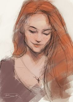 Lily Evans - art of Bianca R.  Pinned by @lilyriverside