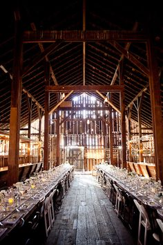 Pared-Down Country Wedding in a Barn | via Ruffled blog | House & Home