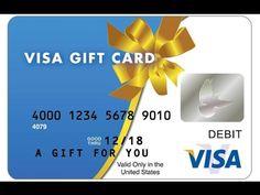 VISA no name gift card $50 Proof Legal 100%