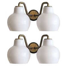 Pair of Vilhelm Lauritzen Double Wall Lights | From a unique collection of antique and modern wall lights and sconces at http://www.1stdibs.com/furniture/lighting/sconces-wall-lights/