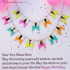 Print Your Name On Lovely Online Edit Happy Birthday Card With Photo And Generate Best Generator This Is The Easiest Unique