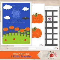 Five Little Pumpkins Sitting on a Gate - free printable