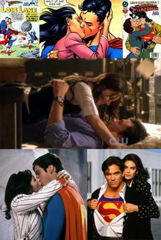 "The romance of Lois Lane and Clark ""Superman"" Kent"