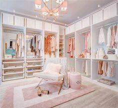Room Design Bedroom, Girl Bedroom Designs, Home Room Design, Wardrobe Room, Closet Bedroom, Master Bedroom, Dressing Room Design, Dressing Rooms, Deco Cool
