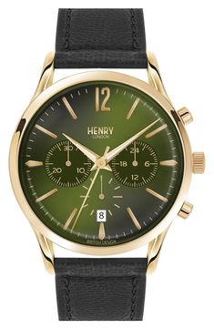 90c921065fc Henry London  Chiswick  Chronograph Leather Strap Watch