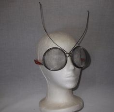 Found on EstateSales.NET: Home Made Martian Glasses made from 2 Vintage Strainers, Too Funny