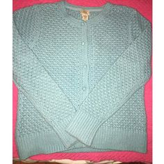 Light Blue Cardigan Brand new. Perfect condition. Never worn. Baby blue button down cardigan. Super cute to throw on with leggings and boots! Definitely cute to wear oversized. LLBean. Not looking to trade! LLBean Sweaters Cardigans