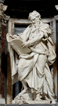 St. Matthew by Camillo Rusconi (1708-1718) ~ St. John Lateran's Basilica, Rome, Italy