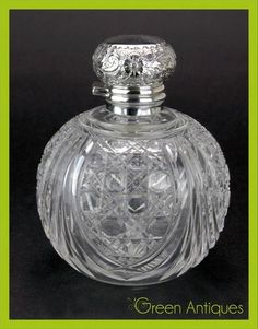 SHEFFIELD Silver Cut Glass Perfume Bottle 1901 Sold for $346.00 Bidders 10