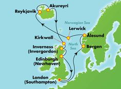 14-Day Norway, Iceland, & UK from London (Southampton)