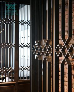 "Képtalálat a következőre: ""r&d cocktail lab"" Window Grill Design, Screen Design, Door Design, Wall Design, Partition Screen, Divider Screen, Partition Design, Architecture Details, Interior Architecture"