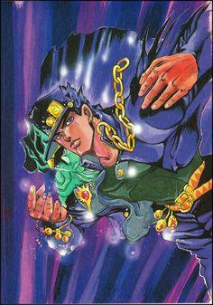 Jotaro Kujo Jjba ジョジョの奇妙な冒険 JoJo no Kimyou na Bouken JoJo's Bizarre Adventure Manga Art, Manga Anime, Anime Art, Jojo Anime, Jojo Parts, Arte Sketchbook, Jotaro Kujo, Jojo Bizarre, Bizarre Art