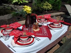 Table Setting Ideas #Cowboy #Western