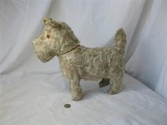 Dog Candy Container French Antique RARE Large Mohair 1800s Superb | eBay