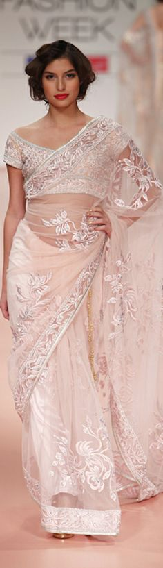 Bhairavi Jaikishan saree at Lakme Fashion Week 2012 - original pin by @webjournal