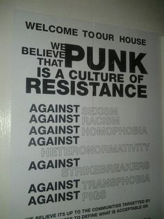 punk rules of the house