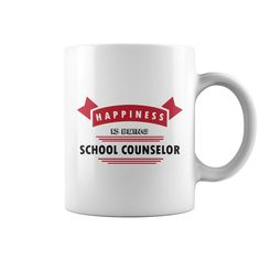 Personalized Happiness Is Being School Counselor Mug mug, travel mugs or a custom coffee mugs for mom/dad or Grandma/Grandpa at Waneon - T-Shirts! We'll create personalized, designed especially for him/her. School Shirts, Teacher Shirts, Tattoo T Shirts, Tee Shirts, Boys Shirts, Polo Shirt, Tattoos, Funny Coffee Mugs, Optician