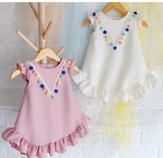 Examples of t-shirt decoration, examples of t-shirt decoration, # penylage … – KinderMode Dresses Kids Girl, Girl Outfits, Baby Dresses, Little Girl Fashion, Kids Fashion, Fashion Games, Dress Anak, Baby Dress Design, Kids Frocks