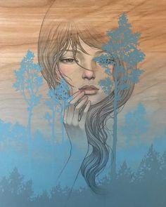 Image may contain: 1 person Audrey Kawasaki Tattoo, Transformers Art, Book Cover Art, Pop Surrealism, Geek Art, Pulp Art, Silhouette, Cartoon Art, Female Art