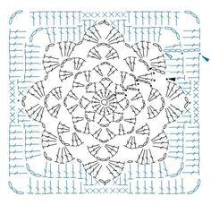 Transcendent Crochet a Solid Granny Square Ideas. Inconceivable Crochet a Solid Granny Square Ideas. Granny Pattern, Crochet Motif Patterns, Crochet Diagram, Crochet Chart, Diy Crochet, Crochet Stitches, Crochet Squares, Crochet Blocks, Motifs Granny Square