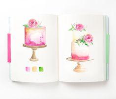 watercolor cake logo
