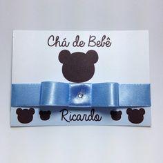 Convite Chá De Bebê Ursinho | Cute Lembranças | 3A7732 - Elo7