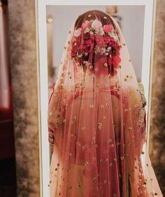Gorgeous floral bun for brides