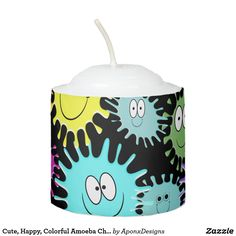 Shop Cute, Happy, Colorful Amoeba Characters Candle created by AponxDesigns. Candle Holders, Characters, Candles, Colorful, Lights, Create, Happy, Design, Figurines