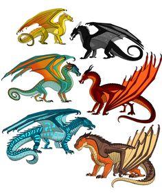 The Dragonets by WindstarofWindclan.deviantart.com on @DeviantArt